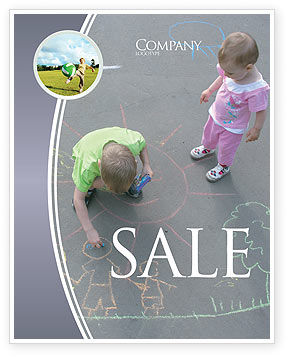 Street Drawings Sale Poster Template, 03549, Education & Training — PoweredTemplate.com
