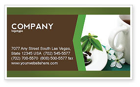 Green Tea Ceremony Business Card Template, 03551, Food & Beverage — PoweredTemplate.com