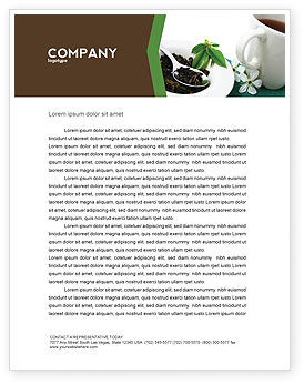 Food & Beverage: Green Tea Ceremony Letterhead Template #03551