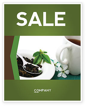 Food & Beverage: Groene Thee Ceremonie Poster Template #03551