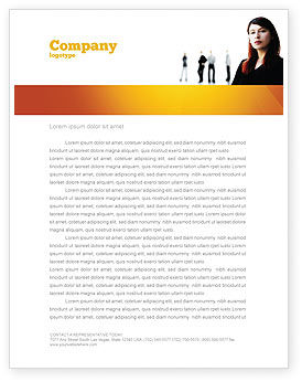Networking Letterhead Template, 03552, Careers/Industry — PoweredTemplate.com