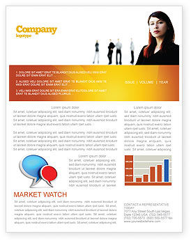 Networking Newsletter Template, 03552, Careers/Industry — PoweredTemplate.com