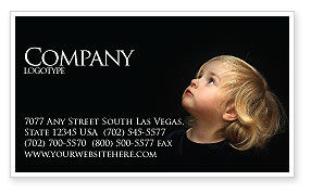 Child Listens Business Card Template, 03553, People — PoweredTemplate.com