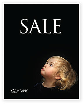 Child Listens Sale Poster Template