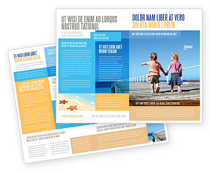 Pier Brochure Template, 03559, Education & Training — PoweredTemplate.com