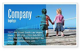 Pier Business Card Template, 03559, Education & Training — PoweredTemplate.com