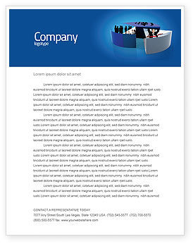 Business Evaluation Letterhead Template, 03560, Abstract/Textures — PoweredTemplate.com