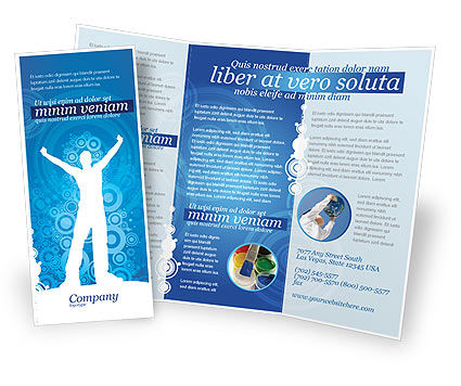 Creativity In Blue Brochure Template, 03561, Business Concepts — PoweredTemplate.com