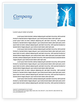 Business Concepts: Creativity In Blue Letterhead Template #03561