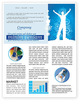 Business Concepts: Creativity In Blue Newsletter Template #03561