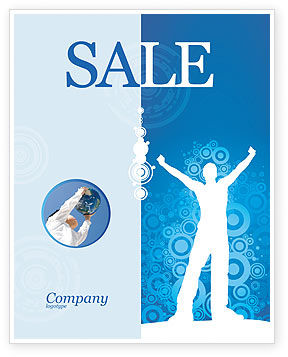 Creativity In Blue Sale Poster Template, 03561, Business Concepts — PoweredTemplate.com