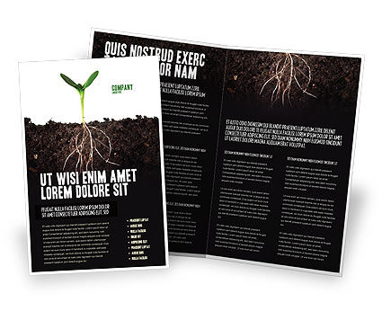 Nature & Environment: Life Sprouts Brochure Template #03562