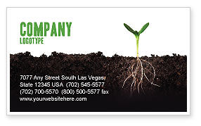 Life Sprouts Business Card Template, 03562, Nature & Environment — PoweredTemplate.com