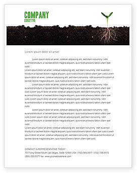 Nature & Environment: Life Sprouts Letterhead Template #03562