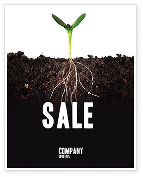 Nature & Environment: Life Sprouts Sale Poster Template #03562