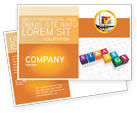 Business Concepts: Strategy Postcard Template #03563