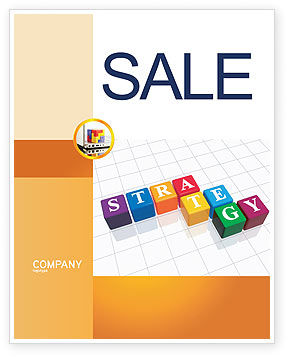 Business Concepts: Strategy Sale Poster Template #03563