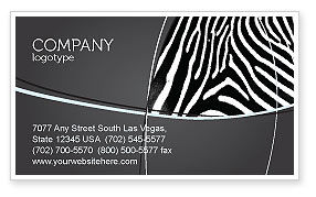 Agriculture and Animals: Stripes Business Card Template #03564
