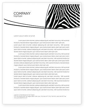 Stripes Letterhead Template, 03564, Agriculture and Animals — PoweredTemplate.com