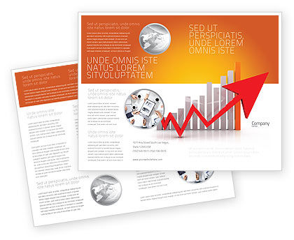 Raising Rates Brochure Template, 03571, Business Concepts — PoweredTemplate.com