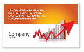 Business Concepts: Raising Rates Business Card Template #03571