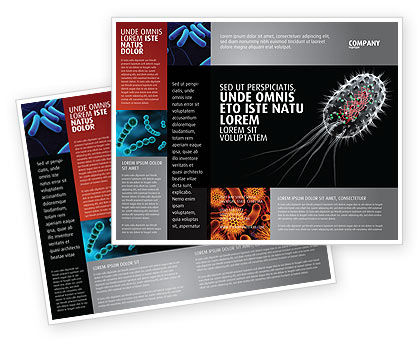 Technology, Science & Computers: Bacteria Cell Brochure Template #03573