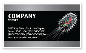 Bacteria Cell Business Card Template, 03573, Technology, Science & Computers — PoweredTemplate.com