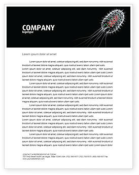 Bacteria Cell Letterhead Template, 03573, Technology, Science & Computers — PoweredTemplate.com