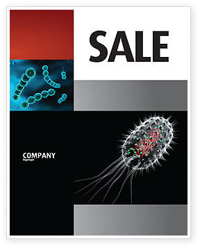 Bacteria Cell Sale Poster Template, 03573, Technology, Science & Computers — PoweredTemplate.com