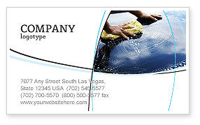 Careers/Industry: Car Wash Business Card Template #03576