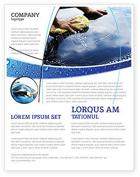Car Wash Flyer Template, 03576, Careers/Industry — PoweredTemplate.com