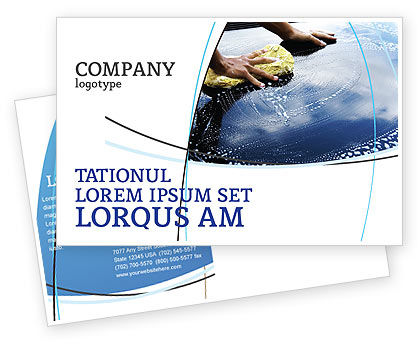 Careers/Industry: Car Wash Postcard Template #03576