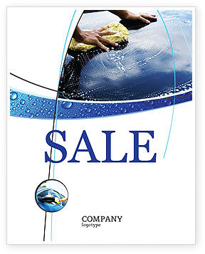 Careers/Industry: Car Wash Sale Poster Template #03576