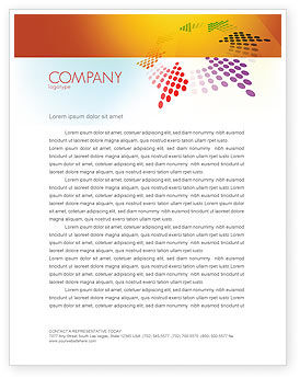 Cycle Letterhead Template, 03577, Abstract/Textures — PoweredTemplate.com