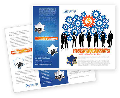 Financial/Accounting: Business Workers Brochure Template #03578