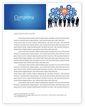 Financial/Accounting: Business Workers Letterhead Template #03578