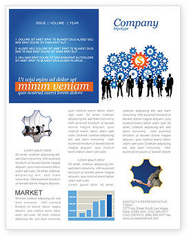 Business Workers Newsletter Template, 03578, Financial/Accounting — PoweredTemplate.com
