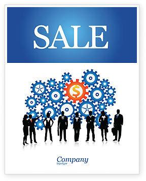 Financial/Accounting: Business Workers Sale Poster Template #03578