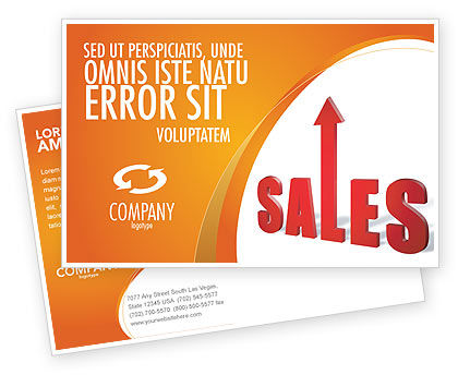 Sales Postcard Template, 03579, Business — PoweredTemplate.com