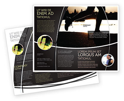 Sports: Jogging On The Bank Of The River Brochure Template #03580