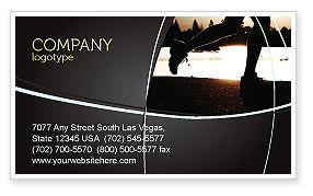 Jogging On The Bank Of The River Business Card Template, 03580, Sports — PoweredTemplate.com