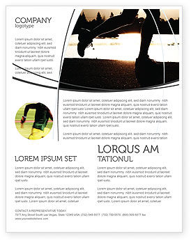 Sports: Jogging On The Bank Of The River Flyer Template #03580