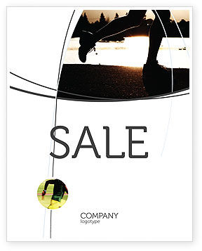 Jogging On The Bank Of The River Sale Poster Template, 03580, Sports — PoweredTemplate.com
