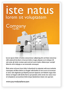 Business Puzzle Ad Template, 03587, Business Concepts — PoweredTemplate.com