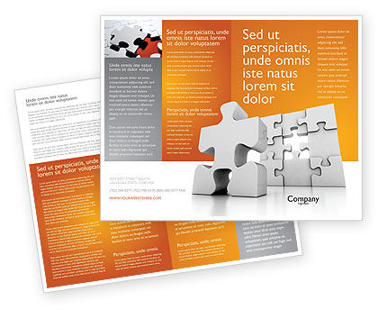 Business Puzzle Brochure Template, 03587, Business Concepts — PoweredTemplate.com