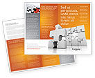 Business Concepts: Business Puzzle Brochure Template #03587