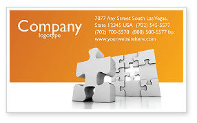 Business Concepts: Business Puzzle Business Card Template #03587