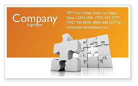 Business Concepts: Business-puzzle Visitenkarte Vorlage #03587