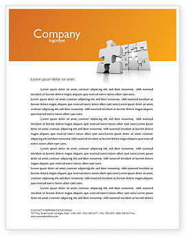 Business Concepts: Business Puzzle Letterhead Template #03587