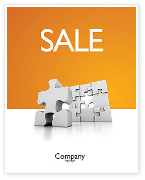Business Puzzle Sale Poster Template, 03587, Business Concepts — PoweredTemplate.com